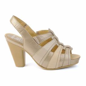 Zapatos Zaptillas Sandalias Dama 6898 Onena Juve Metalico