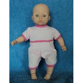 Boneca Antiga Bebê Estrela Fala Frases Macacão Rosa (g12)