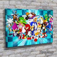 Cuadros Lienzo 75x50 Videojuego Sonic The Hedgehog Varios