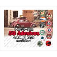Adesivos Retro Antigos Vintage Diversos (50 Uni)