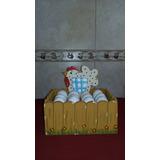 Caja Porta Huevos (huevera De Madera)
