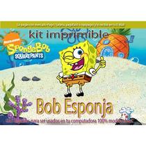 Mega Kit Imprimible Candy Bar Bob Esponja Cotillon