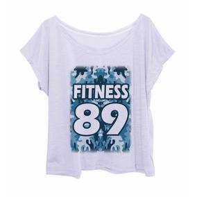 Blusa Feminina Estampada Plus Size Camuflada Fit 89 Azul