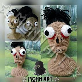 Cabeza De Zombie, Muñeco Amigurumi, Tejido A Mano, Crochet