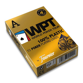 Baralho Fournier Wpt Gold Edition Poker Jumbo 55ct Azul