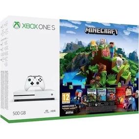 Xbox One S Minecraft 500gb 4k 3 Jogos