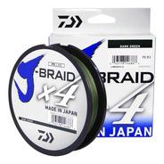 Linha Multifilamento J-braid X4 0,25mm 30lb 270m - Daiwa