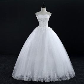 Vestido De Noiva Longo Tomara Que Caia Cesa Rodado