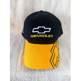 Gorra Combinada Chevrolet Logo Amarillo Bordado Frente