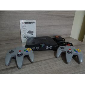 Nintendo 64 + 2 Controles + Manual (ótimo Estado)