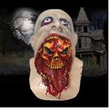 Disfraz El Biz Máscara De Miedo Cara Esqueleto En La Cabeza