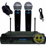 Microfone Sem Fio Duplo Leson Ls902 Ht + Case Loja Kadu Som