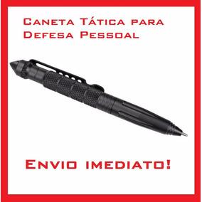 Caneta Defesa Pessoal Tática Kubotan Preta
