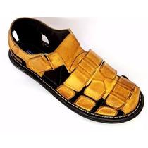 Sandália Masculina Couro Tipo Franciscana Varias Cores Shoes