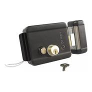 Cerradura Electrica 12v Reversible Con Boton Color Negra