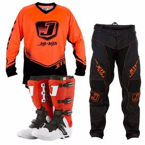 Kit Pro Tork Roupa Jett Hi-vis Trilha Motocross 3 Itens