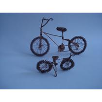 2 Bicicletas Artesanales A Escala De Coleccion De Cobre