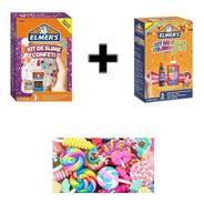 Combo Slime Elmers Original Confeti + Celebracion + 5 Charms