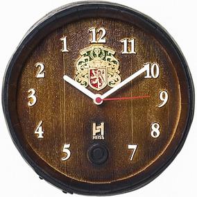 Relógio Barril Decorativo Pequeno - Anti-horário