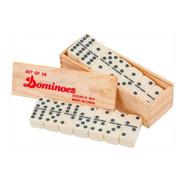 Domino Profesional Caja Madera Juego Fichas Casino Grande