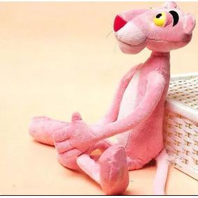 Brinquedo Infantil Pelúcia Pantera Cor De Rosa 35 Cm