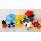 Pokemon Sun Moon 6 Muñecos Movimientos Sonidos Luces Nuevos