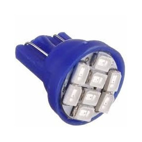 01 Lampada Pingo 8 Led T10 Azul Teto Farol Placa Frete 7,00