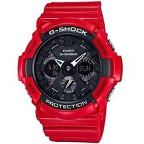 Relógio Casio G-shock Anadigi Ga-201rd-4a Vermelho Original
