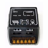 Controlador De Carga Painel Pwm Solar Automatico 10a 12v/24v