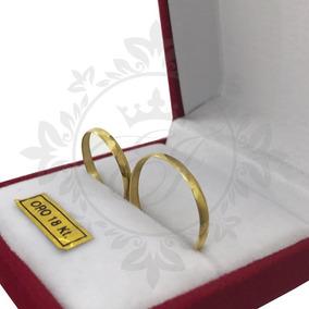 Alianzas Oro 18k 2 Grs El Par -anillos Compromiso-casamiento