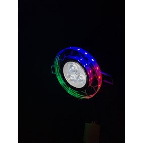 2 Spot Led Lampada Vidro Espelhado Colorido Redondo 6w Frio