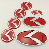 Set 7 Emblemas K Modelos Kia Rojo K5 Optima Etc
