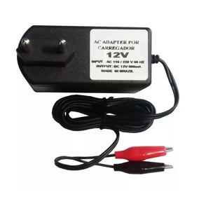 Carregador Novo 12v 800mah Para Bateria Selada 12v 7ah