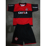 Kit Infantil Flamengo Camisa E Short - Super Promoção
