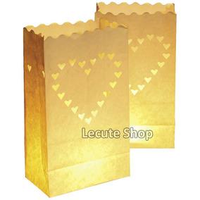 10 Bolsas Luminosas Luminarias Pantalla China Cantoya Velas