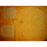 Centro De Mesa + 2 Carpetitas Tejidas A Mano Crochet 0800
