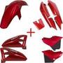 Kit Carenagens Vermelho+tanque Combustível Moto Ybr125 +fret