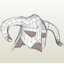 Casco Bikingo Armable-papercraft