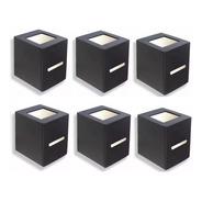 6 Unidireccional Difusor Pared Exterior + 6 Led G9 5 Watt