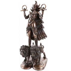 Escultura De Diosa Ishtar De 30cm Acabado En Bronce