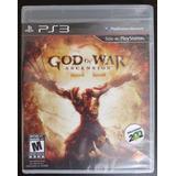 God Of War Ascension Ps3 Físico Nuevo Entrega !!!