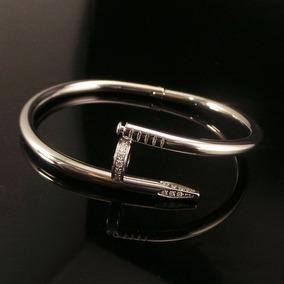 Pulsera Esclava Acero Titánio Forma Clavo Mujer/hombre