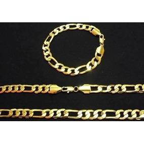 10 Cordões 10 Pulseiras Folheados Ouro 18k 60cm C/certificad