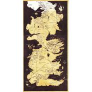 Mapa Westeros Sépia Verti - Game Of Thrones