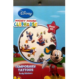 Mickey Mouse Clubhouse Temporales Tatuaje Disfraces Libro