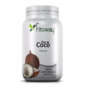 Óleo De Coco Fitoway 1.000mg 120 Cápsulas