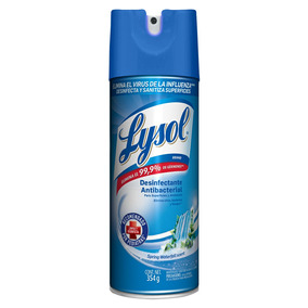 Lysol Aerosol Spring Waterfall 354gr Desifectante Bacterial