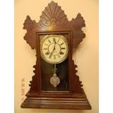 Bello Reloj Péndulo Mesa/ Pared Waterbury 1890. Impecable