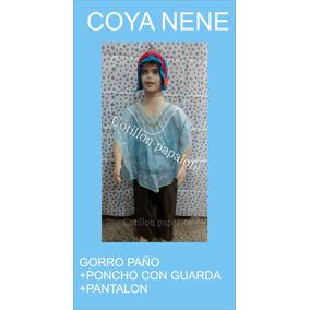 Disfraz Patrio Coya Nene Poncho Gorro Acto Talle 4/6/8/10