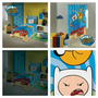 Adventure Time Kit 3pçs Edredom Cortina E Toalha